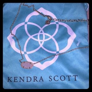Kendra Scott authentic necklace rose gold druzy